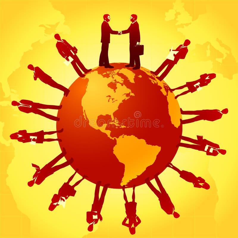 Zaken rond de Wereld royalty-vrije illustratie