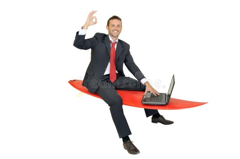 Zaken surfer royalty-vrije stock foto