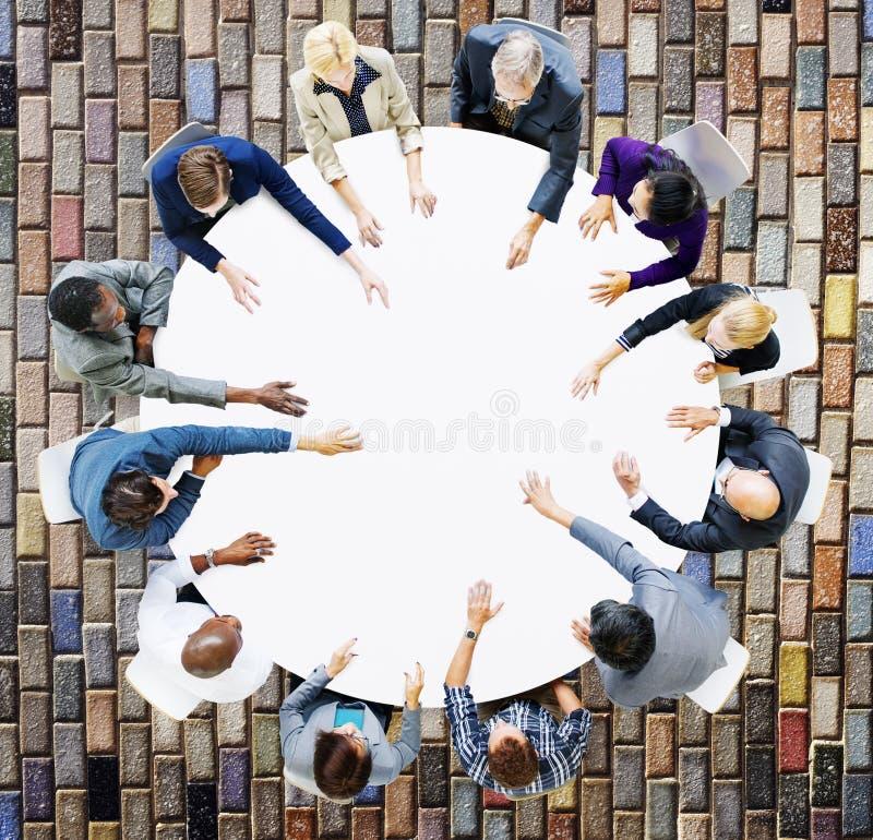 Zaken Team Discussion Meeting Analysing Concept royalty-vrije stock fotografie