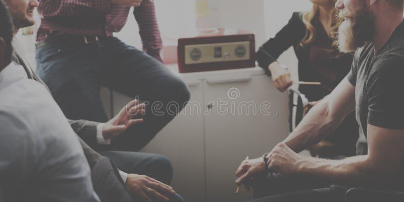 Zaken Team Discussion Meeting Corporate Concept royalty-vrije stock foto