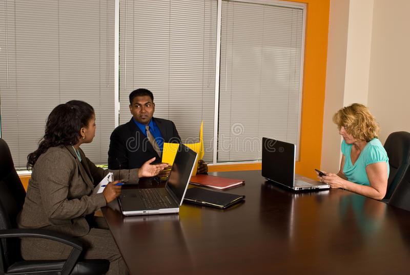 Zaken Team Meeting stock afbeelding