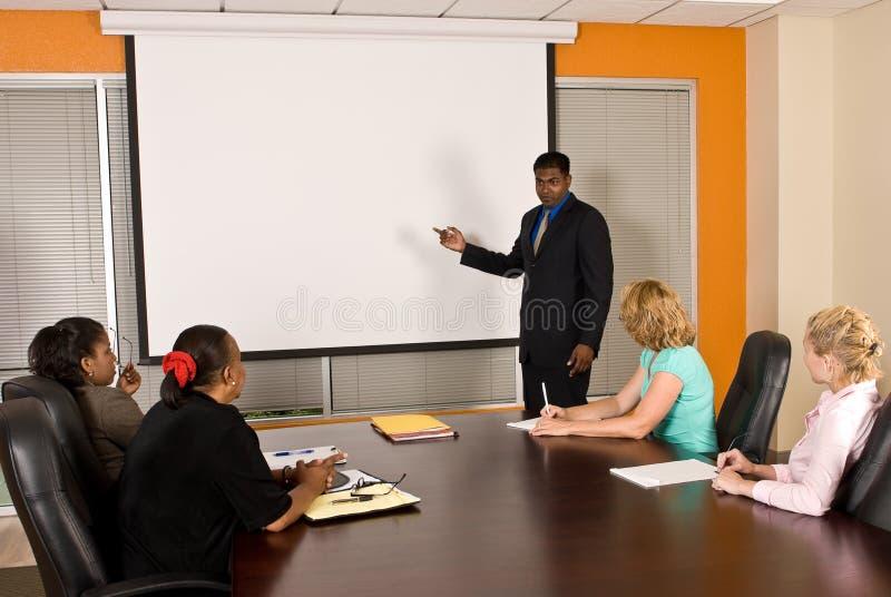 Zaken Team Meeting stock afbeeldingen