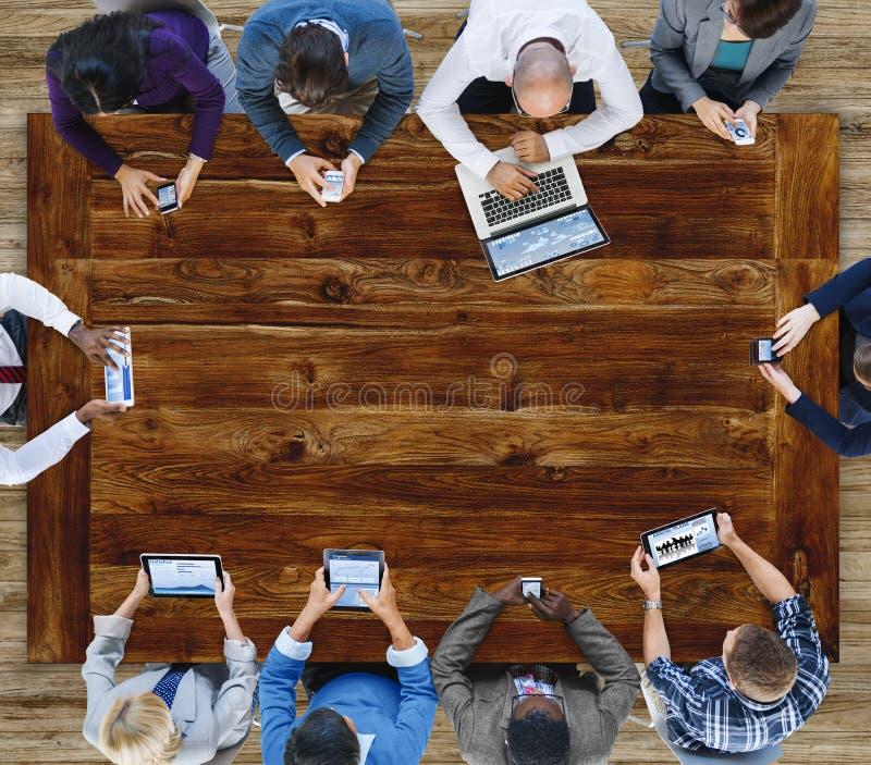 Zaken Team Meeting Communication Statistics Concept stock afbeeldingen