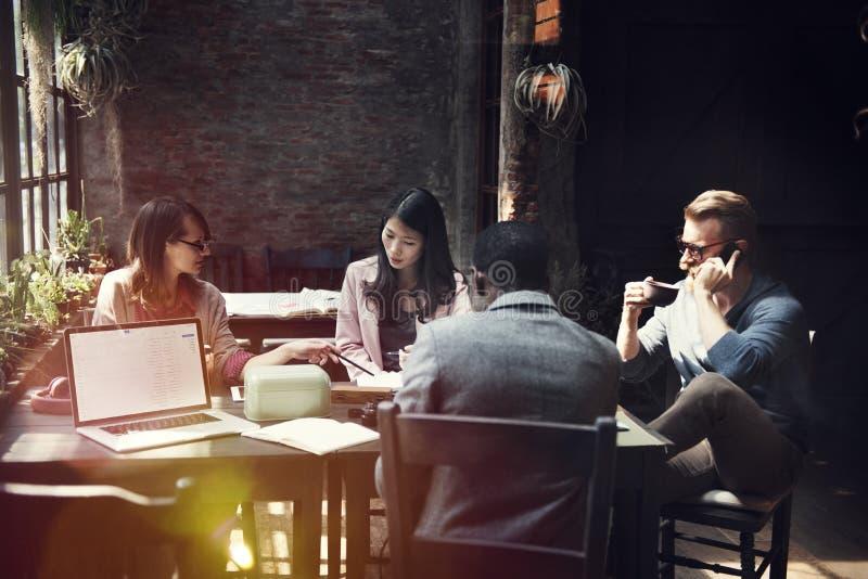 Zaken Team Meeting Discussion Ideas Concept stock foto