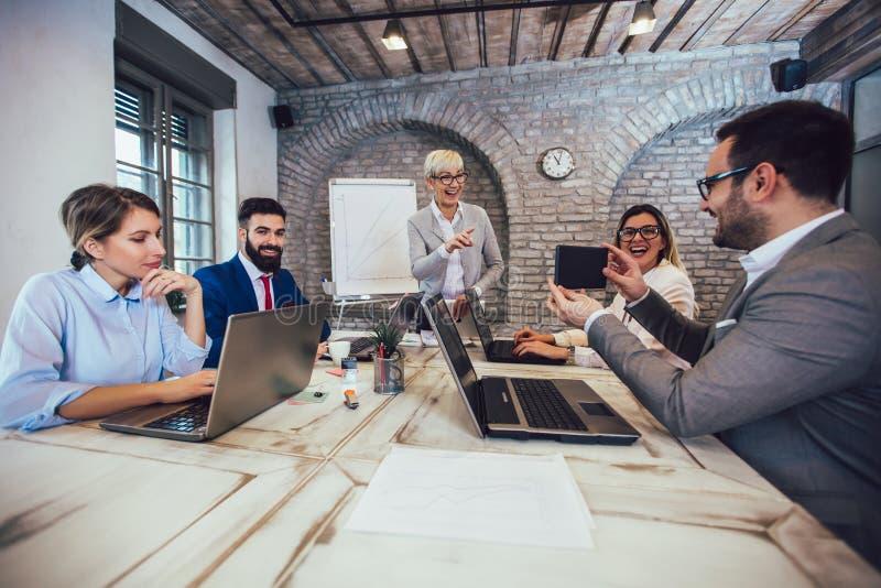 Zaken Team Meeting Working Presentation royalty-vrije stock afbeelding