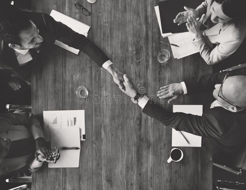 Zaken Team Meetng Handshake Applaud Concept stock afbeelding