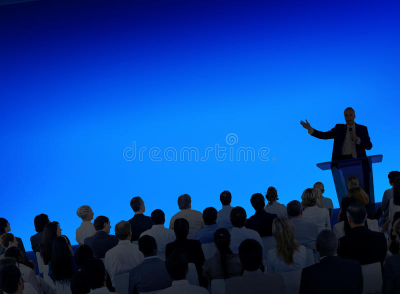 Zaken Team Seminar Community Presentation Concept stock fotografie