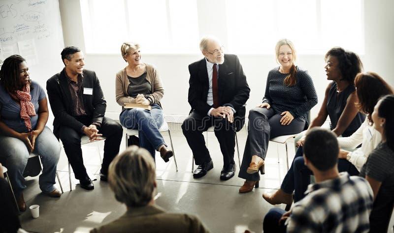 Zaken Team Seminar Corporate Strategy Concept royalty-vrije stock afbeeldingen