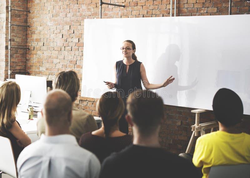 Zaken Team Training Listening Meeting Concept stock afbeelding