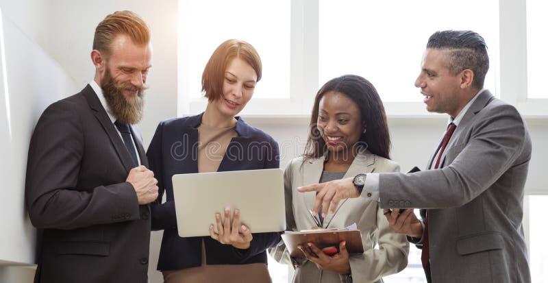 Zaken Team Working Research Planning Concept royalty-vrije stock afbeelding