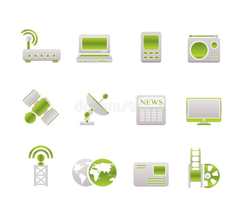 Zaken, technologie, communicatie pictogrammen vector illustratie