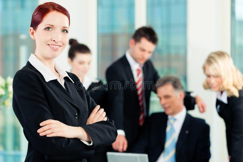 Zaken - vergadering in een bureau royalty-vrije stock afbeelding