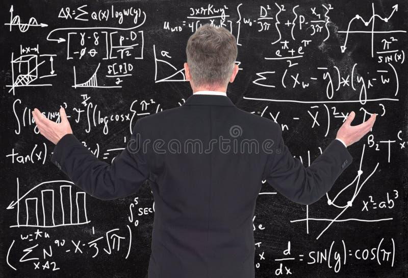 Zaken, Verkoop, Marketing, Wiskundeproblemen stock foto's