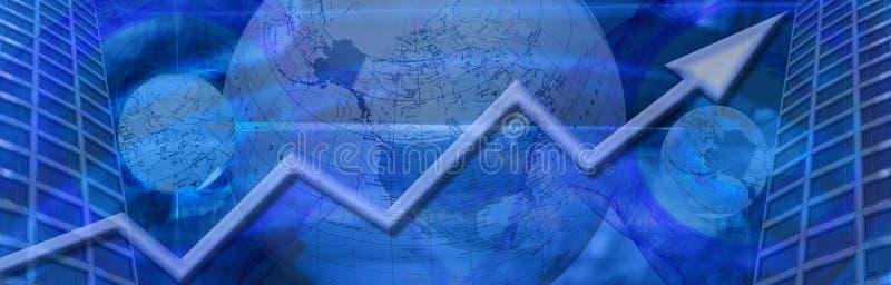 Zaken wereldwijd en financieel succes royalty-vrije stock afbeeldingen