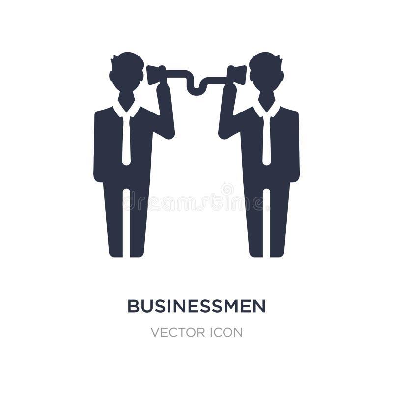 zakenlieden bedrijfs communicatie techniekenpictogram op witte achtergrond Eenvoudige elementenillustratie van Bedrijfsconcept royalty-vrije illustratie