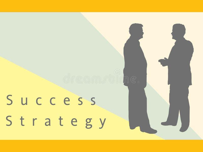 Zakenlieden die Strategie en Succes bespreken stock illustratie