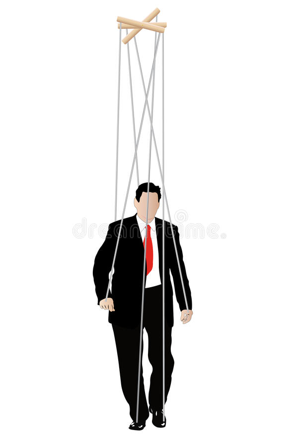Zakenlieden - marionet vector illustratie