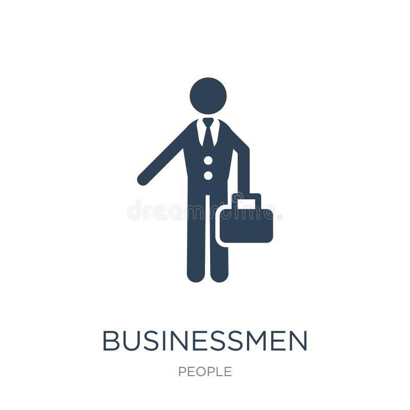zakenliedenpictogram in in ontwerpstijl zakenliedenpictogram op witte achtergrond wordt geïsoleerd die eenvoudig en modern zakenl stock illustratie