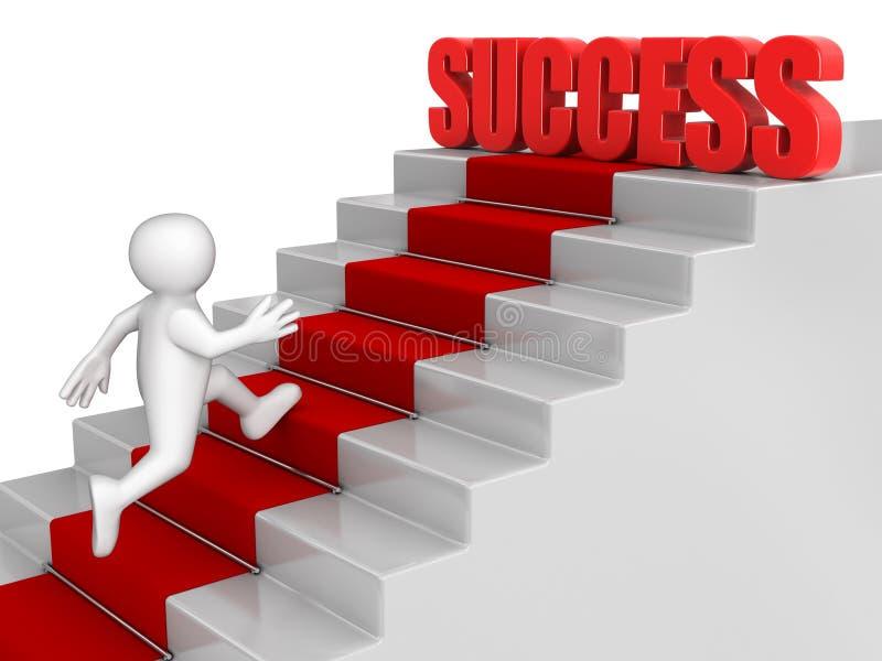Zakenman Aan Succes In Werking Dat Wordt Gesteld Dat Royalty-vrije Stock Foto