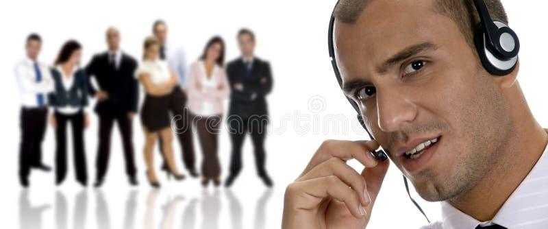 Zakenman bezig op telefoongesprek royalty-vrije stock afbeelding