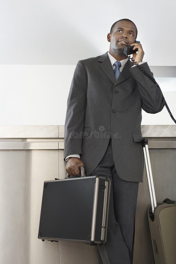 Zakenman On Call stock afbeeldingen