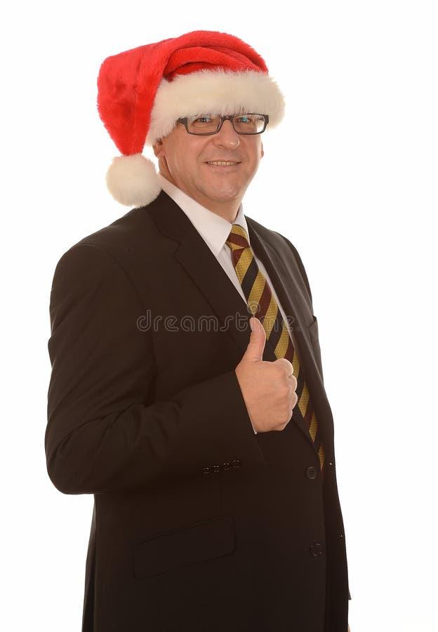 Zakenman de Kerstman royalty-vrije stock foto's