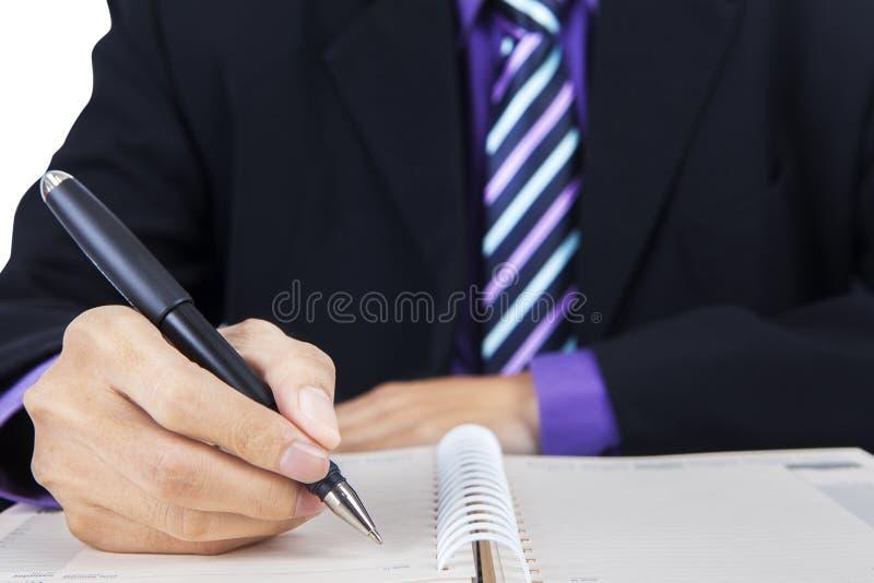 Download Zakenman Die Een Werkplan Maken Stock Foto - Afbeelding bestaande uit notepad, lijst: 39114858