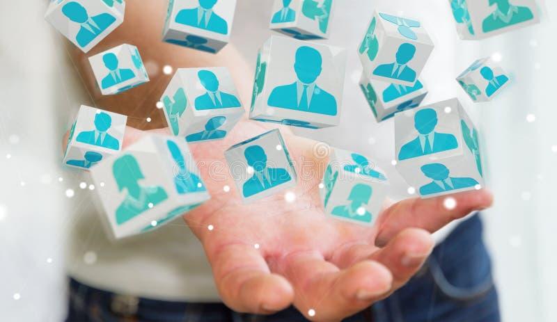 Zakenman die kandidaat voor baan het 3D teruggeven kiezen royalty-vrije illustratie
