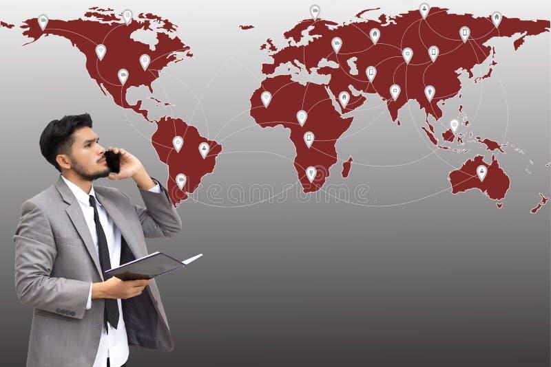 Zakenman die op de telefoon spreken, stock foto's