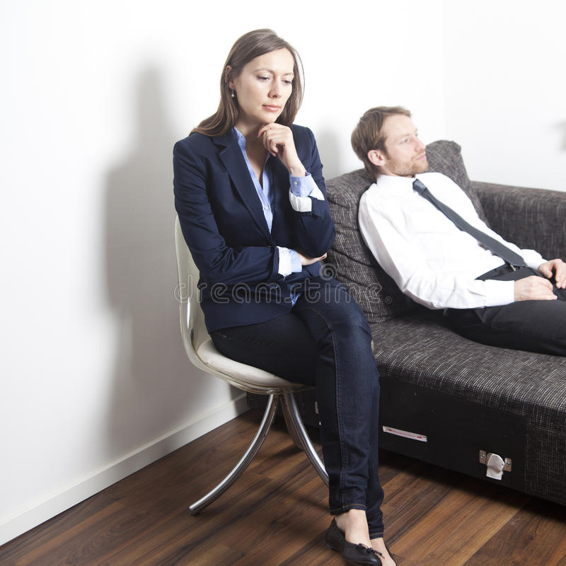 Zakenman die psychoanalyse heeft royalty-vrije stock foto's