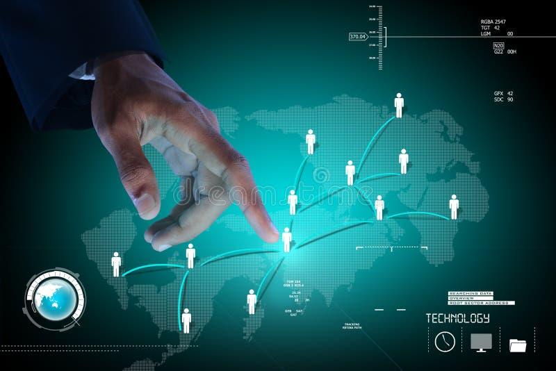 Zakenman die sociale zakenrelatie tonen stock illustratie