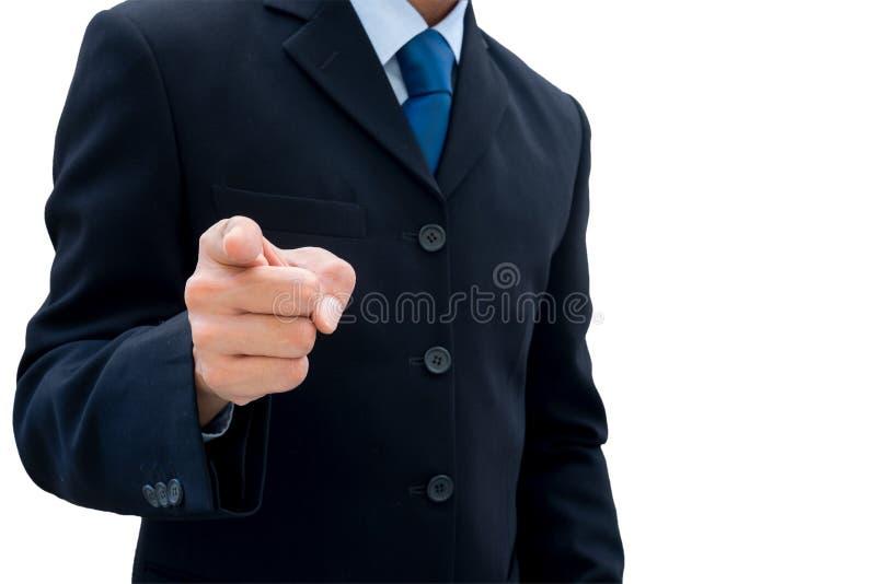 Zakenman die zijn vinger richt royalty-vrije stock foto