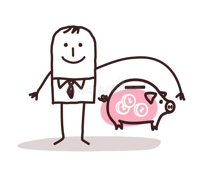 Zakenman en bankverzekering vector illustratie