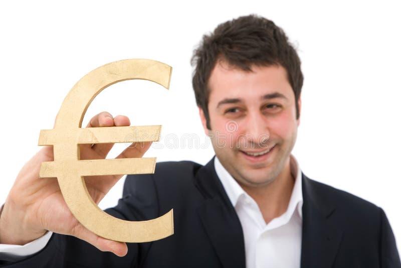 Zakenman en euro royalty-vrije stock afbeeldingen
