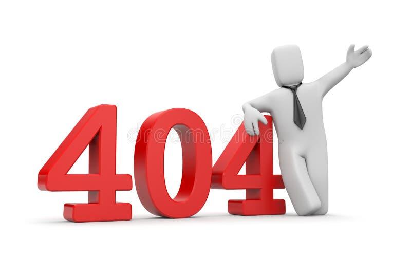 Zakenman en fout 404 vector illustratie