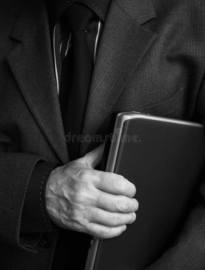 Zakenman en laptop stock fotografie