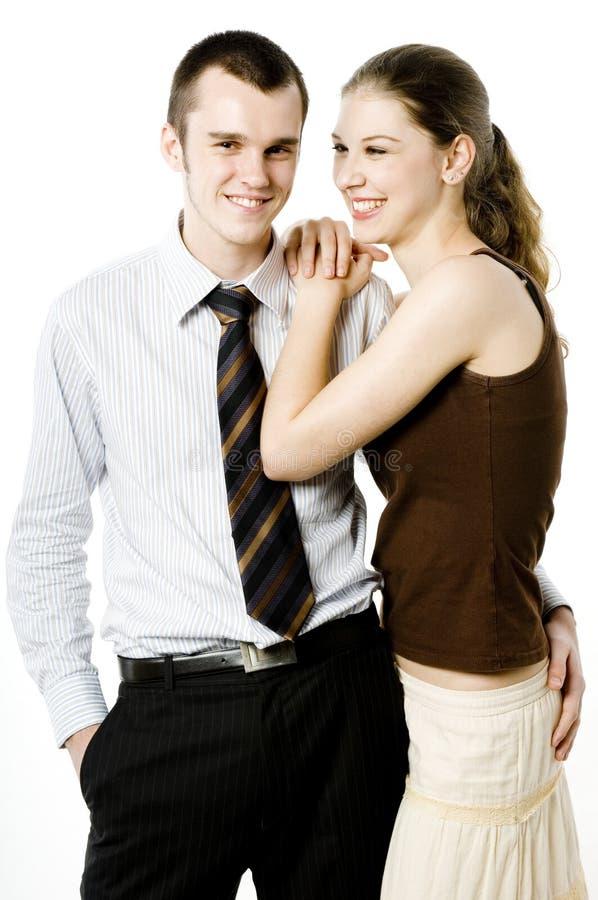 Zakenman en Meisje royalty-vrije stock foto