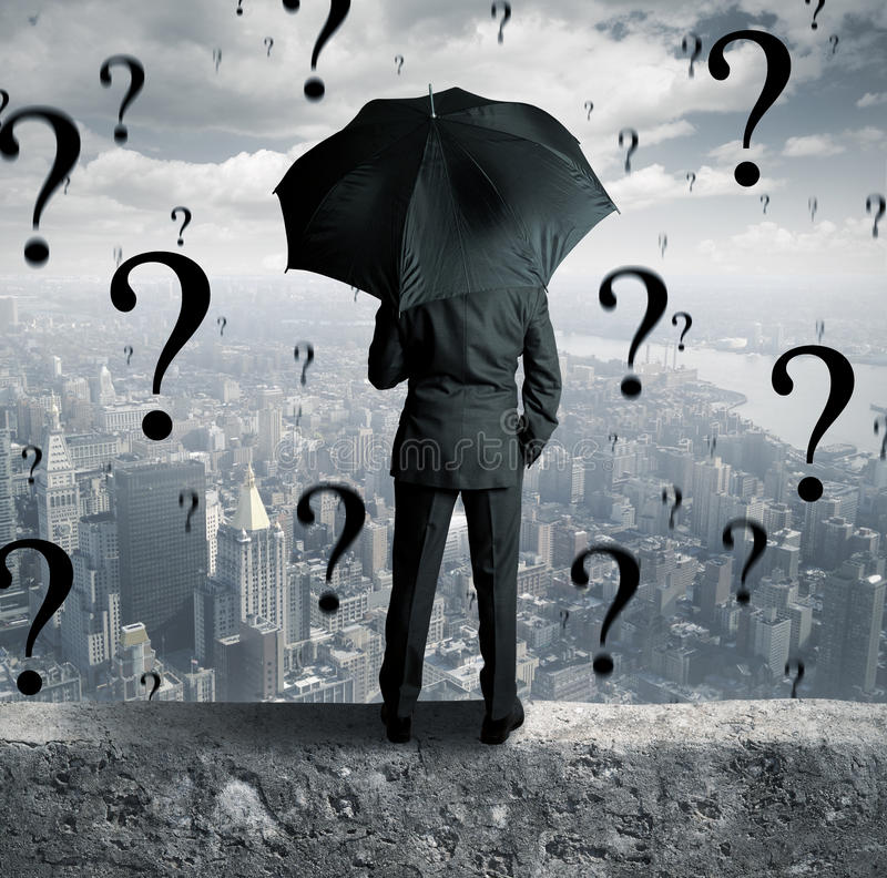 Zakenman en vragen