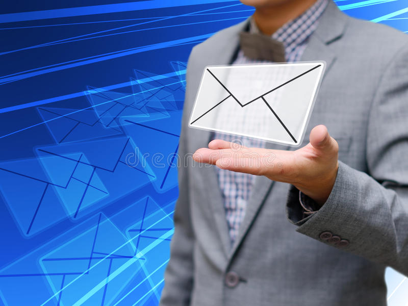 Zakenman geworden e-mail royalty-vrije stock afbeeldingen
