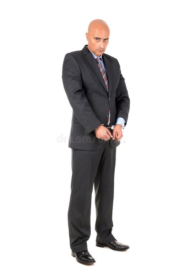 Zakenman in handcuffs royalty-vrije stock foto
