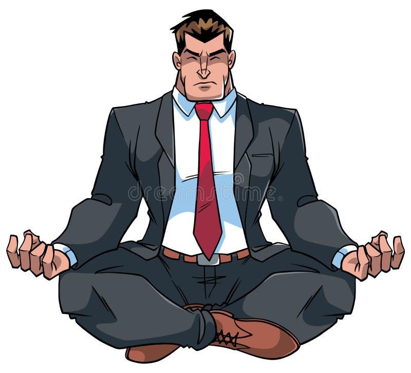 Zakenman Meditating Illustration vector illustratie