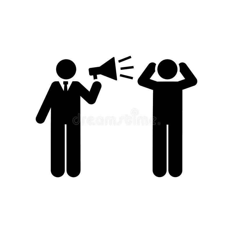 Zakenman, megafoon, boos, baanpictogram Element van zakenmanpictogram Grafisch het ontwerppictogram van de premiekwaliteit Tekens royalty-vrije illustratie