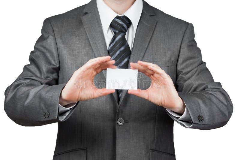 Zakenman met adreskaartje royalty-vrije stock afbeelding