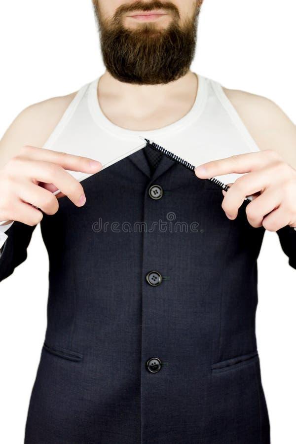 Download Zakenman Met Baard En Gebreide Naalden Stock Foto - Afbeelding bestaande uit motivatie, zakenman: 107701542