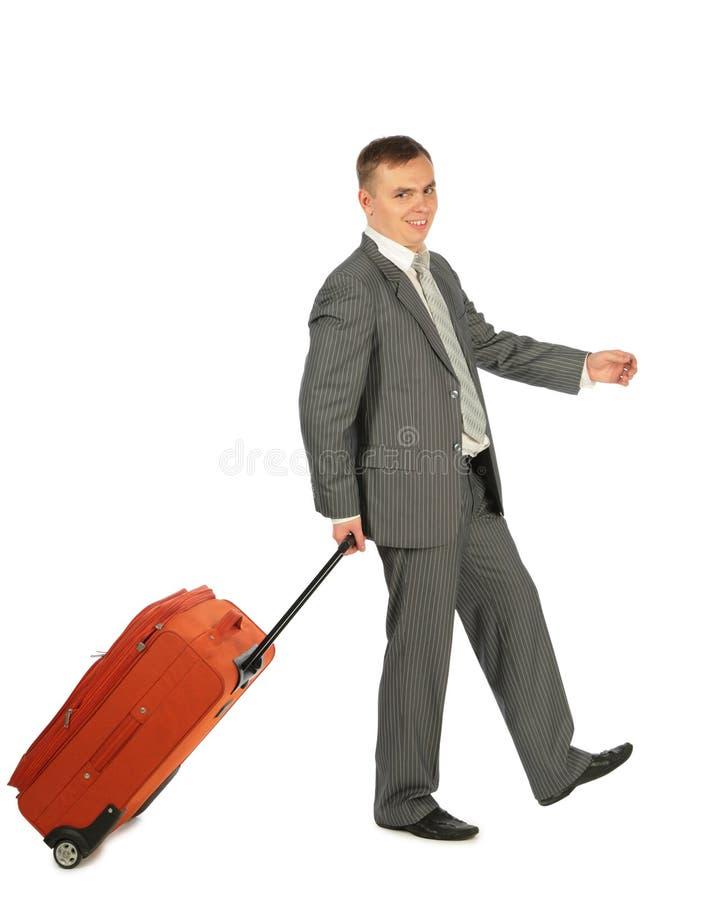 Zakenman met bagage stock afbeeldingen
