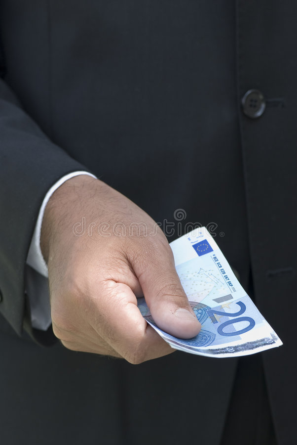 Zakenman met Euro royalty-vrije stock foto