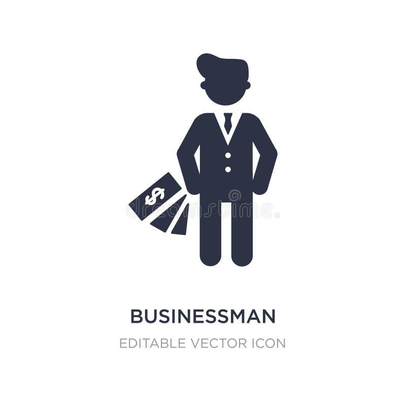 zakenman met euro muntpictogram op witte achtergrond Eenvoudige elementenillustratie van Mensenconcept vector illustratie