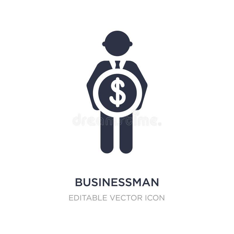 zakenman met het pictogram van de pondmunt op witte achtergrond Eenvoudige elementenillustratie van Mensenconcept vector illustratie