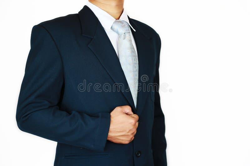 Zakenman met kostuum en het teken van de actiehand voor de planning van de baan Bedrijfsconcept met mensen en het moderne leven i stock foto