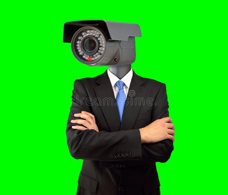 Zakenman met toezicht stock afbeeldingen